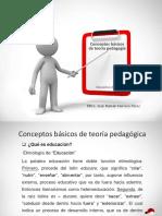 Herrera, J. (2019). Conceptos básicos de teoría pedagógica