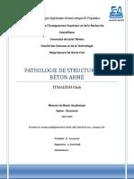 Pathologie de Structures en BA