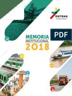 OSITRAN Memoria Institucional 2018