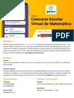 2do Concurso Escolar Virtual de Matematica Ipluton