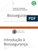 Introducao a Biosseguranca - Aula 1 e 2