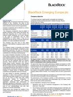 Blackrock Emerging Europe Plc Factsheet