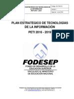 PLAN ESTRATÉGICO DE TECNOLOGÍAS DE LA INFORMACIÓN -PETI 2016-2019