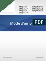Samsung J510 Galaxy J5 (2016) Mode d'Emploi