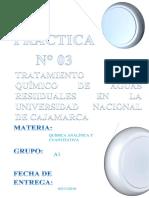 Informe de quimica analítica
