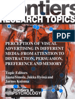 Perception of visual advertising in different media