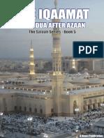 THE IQAAMAT AND THE DUA AFTER AZAAN