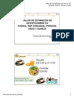 TALLER DE CALCULO DE INCERTIDUMBRES