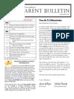 ES Parent Bulletin Vol#8 2010 Nov 26
