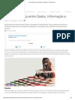 Dado, informação e conhecimento