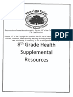 Murrieta Valley Unified School District's Health curriculum eighth grade binder