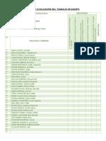 Ficha de Evaluación Del Trabajo en Equipo