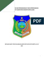 TKRS 2 EP3 Daftar Peraturan Dan Perundangan Yang Dipergunakan RSUD Konkep