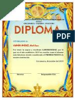 diploma laboriosidad