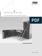 Peri Formwork or False systems for pier construction