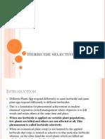 Herbicide selectivity