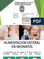 ALIMENTACION ENTERAL EN NEONATOS