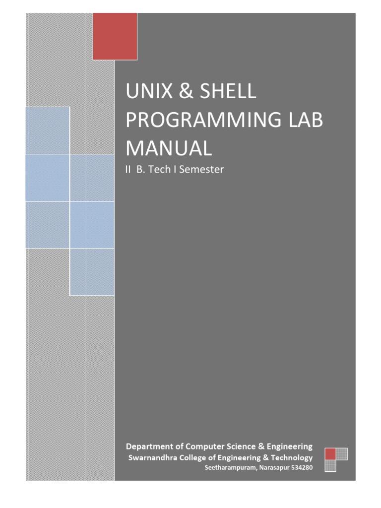 Unix & Shell Programming Lab Manual | Command Line Interface | Computer File