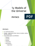 (1)Early Models of the Universe Final Lec