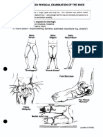 Checklist for Physical Examination of Knee