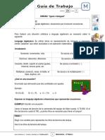6Basico - Guia Trabajo Matematica - Semana 20