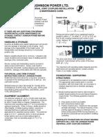 Johnson Power - U. Joint - Installation & Maintenance