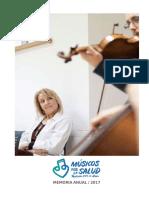 2017 Memoria Musicos Por La Salud