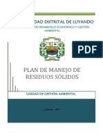 Plan de Manejo de Residuos Sólidos en El Distrito de Luyando
