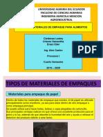 TIPOS DE MATERIALES DE EMPAQUE PARA ALIMENTOS