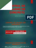 CONTROL DE CALIDAD DE CONCRETO