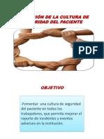 cultura seguridad del paciente