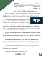 20191219 RIPA Data Statement With Report SDSheriffNewsReleaseEmail13389