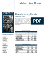 Manufacturing Newsletter - December 2019