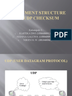 UDP Segment Structure and UDP Checksum