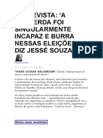 ENTREVISTA - JESSÉ SOUZA - THE INTERCEPT.docx