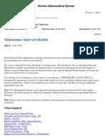 Maintenance Interval Schedule 745C-LFK