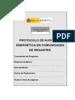 Protocolo Auditoria Energetica en Comunidades de Regantes