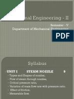 Thermal Engineering - II