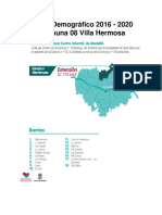 Perfil Demográfico 2016 - 2020 Comuna 08_Villa Hermosa