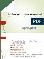 ppt1 La tecnica documental_fichaje, citas y notas