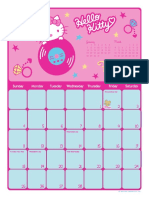calendario hello kitty febrero 2007
