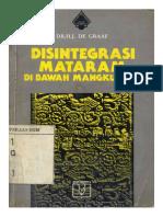 Disintegrasi Mataram Di Bawah Amangkurat I - HJ de Graaf