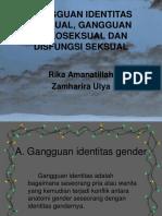 Gangguan Identitas Seksual, Gangguan Psikoseksual Dan Disfungsi