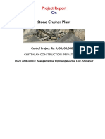 Project Report on Stone Crusher Plant St