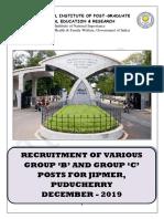 Detailed Advertisement of Various Gr B & C 2019 Puducherry.pdf