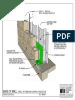 02.010.0312 Base of Wall Single Wythe Block Flashing at Inside Face