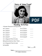 Anne Frank Worksheet