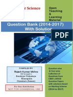 Computer Science Class 12 Question Bank Sol(2014-17)