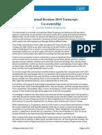 Property Co Ownership LP Transcript Final