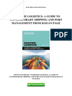 Maritime Logistics a Guide to Contemporary Shipping and Port Management From Kogan Page